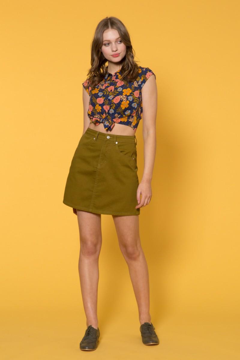 Astrid Drill Skirt