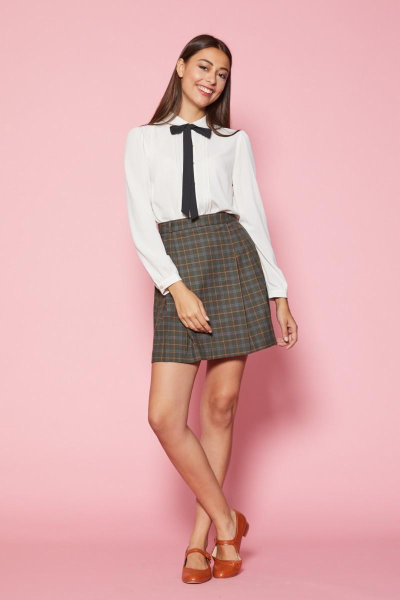 Nina Check Skirt