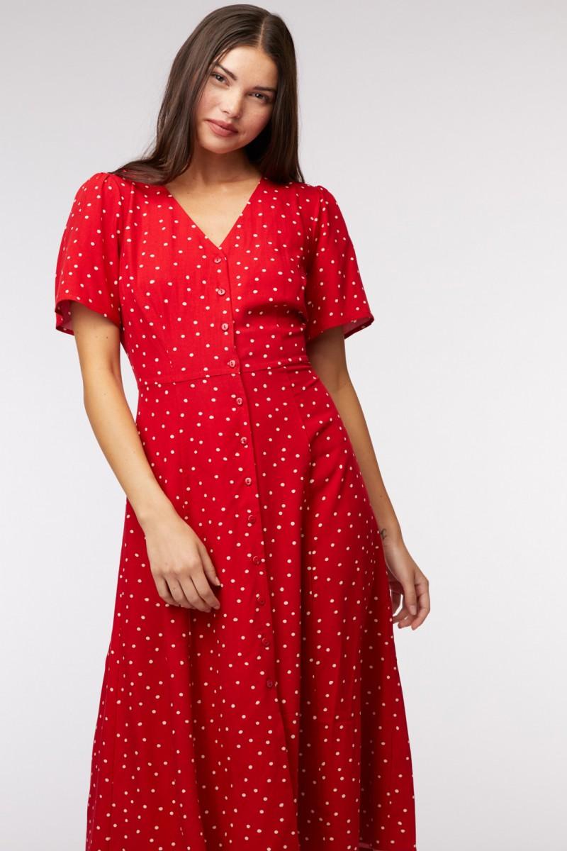Indigo Spot Dress