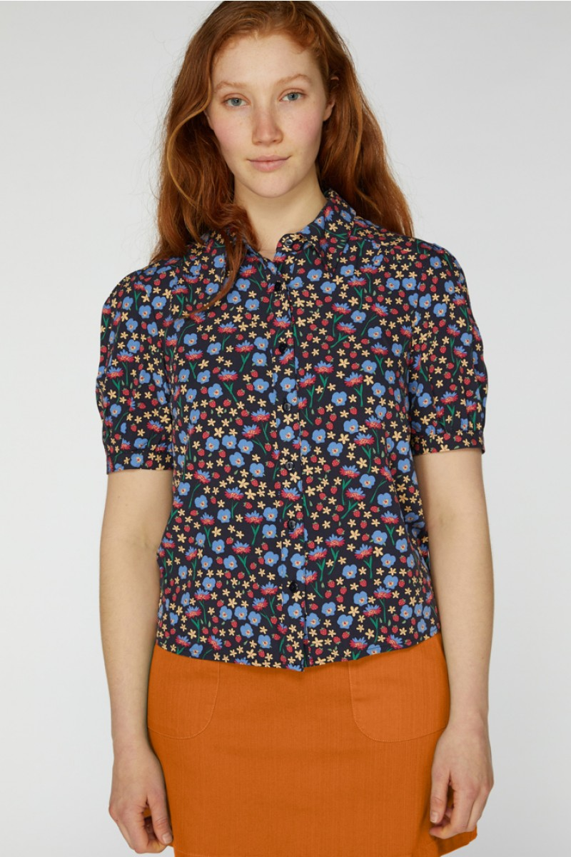 1940s Blouses and Tops Edwina Blouse $54.40 AT vintagedancer.com