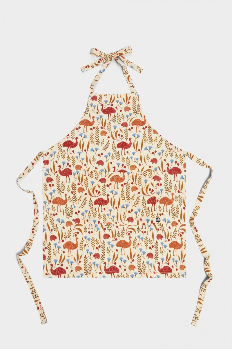 Emu And Echidna Apron