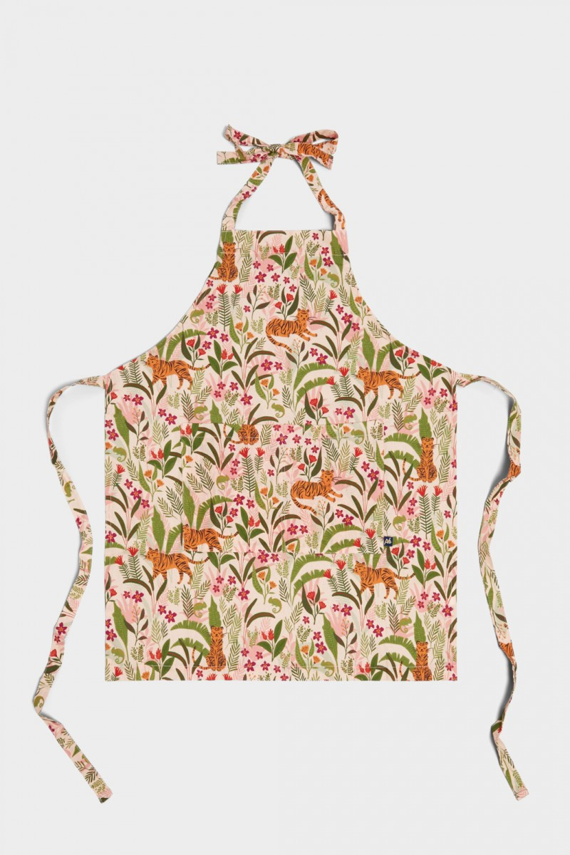 Tiger And Chameleon Apron