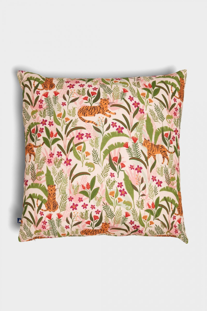 Tiger And Chameleon Cushion