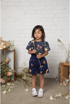 Picnic Embroidered Kids Short