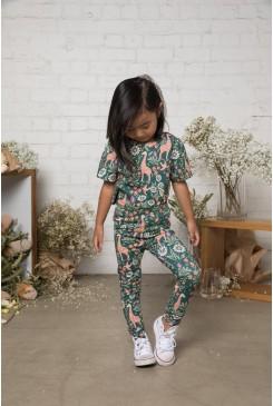 Giraffe & Flower Kids Legging