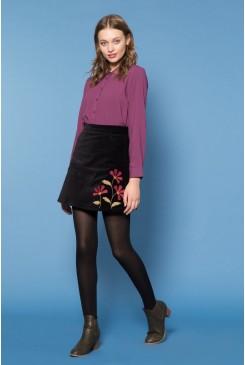 Flora Velvet Skirt
