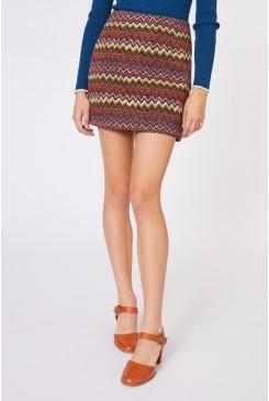 Brocade Zig Zag Skirt