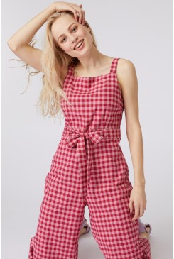 Jacky Check Jumpsuit