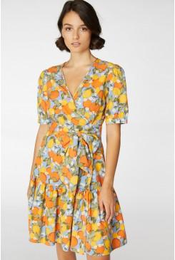 Oranges &Lemons Wrap Dress