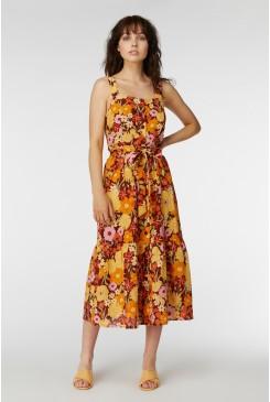 Gina Flora Strap Dress