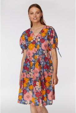 Gina Flora Smock Dress