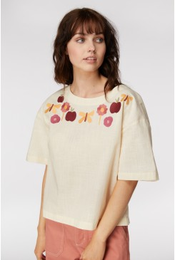Variety Garden Embroide Top