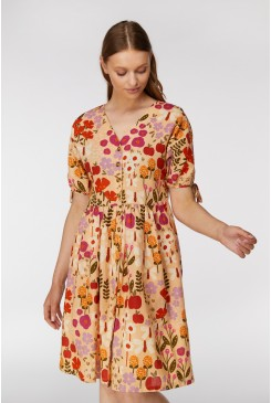 Variety Garden Button Front Dress