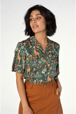 Giraffe & Flower Blouse