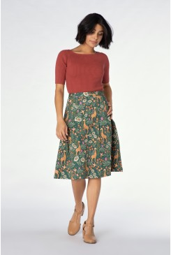 Giraffe & Flower Skirt