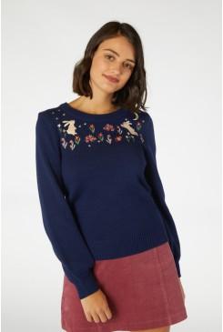 Midnight Rabbit Sweater