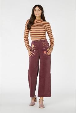 Winona Flower Cord Jean