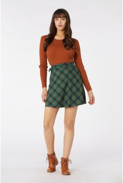 Claudia Check Skirt