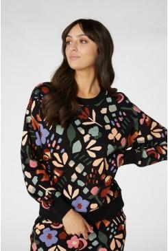 Hazel Geo Fleece Sweater