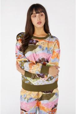 Daisy Landscape Fleece Sweater