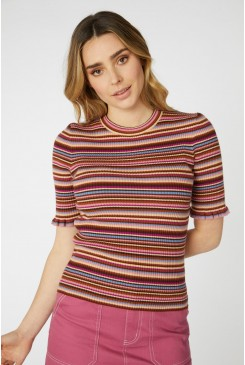 Chloe Stripe Knit Top