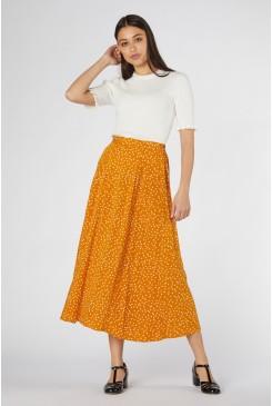 Olivia Spot Midi Skirt