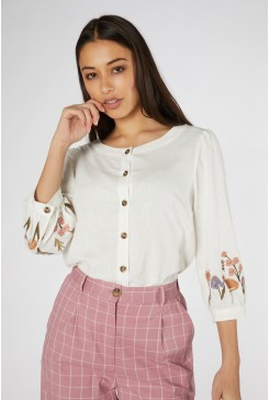 Fleur Embroidered Blouse