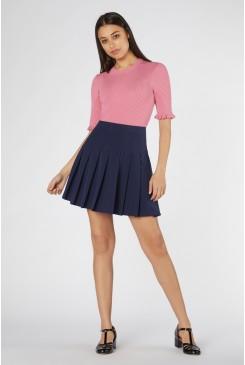 Rita Pleated Mini Skirt