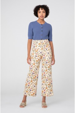 Heather Ditsy Drill Pants