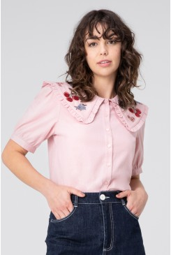 Cherry Embroidered Blouse