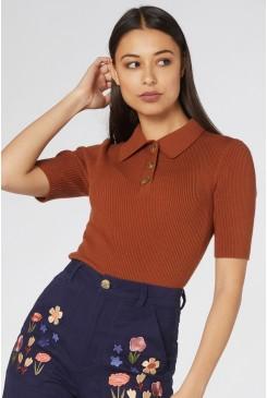 Flores Knit Top