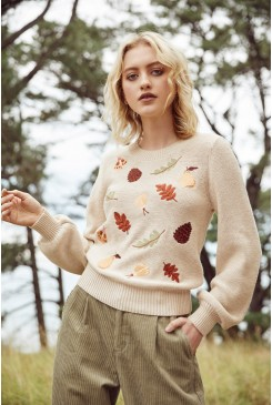 Forest Embroidered Sweater