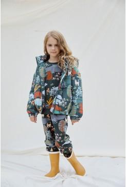 Woodland Bear Kids Puffer Jacket