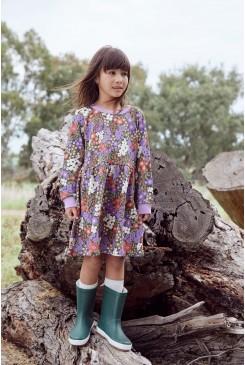 Garden Flora Kid Sweater Dress