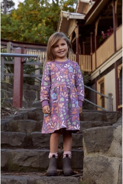 Hazel Geo Kids Sweater Dress