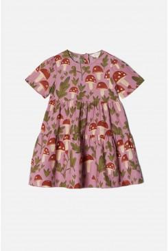 Mushroom Kids SS Tiered Dress