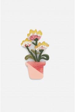 Flower Pots Acrylic Brooch