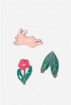 Midnight Rabbit Pin Set