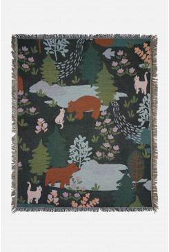 Woodland Bear Throw