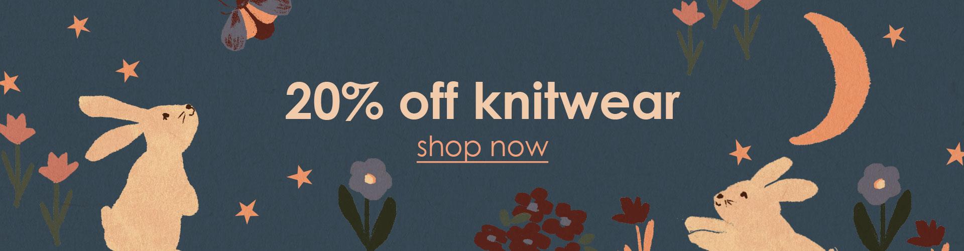 20% off knitwear sale