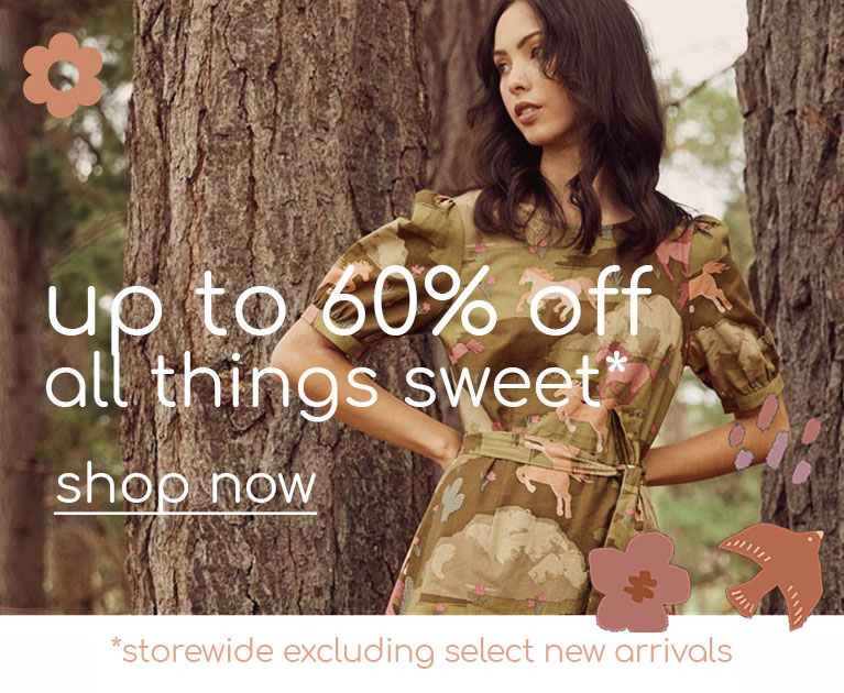up to 60% off sweet things